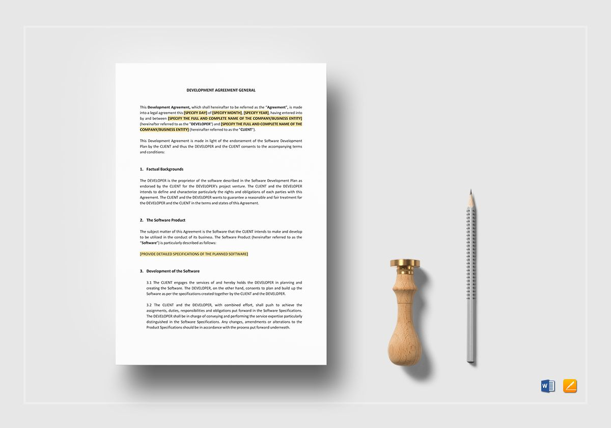 Development Agreement General