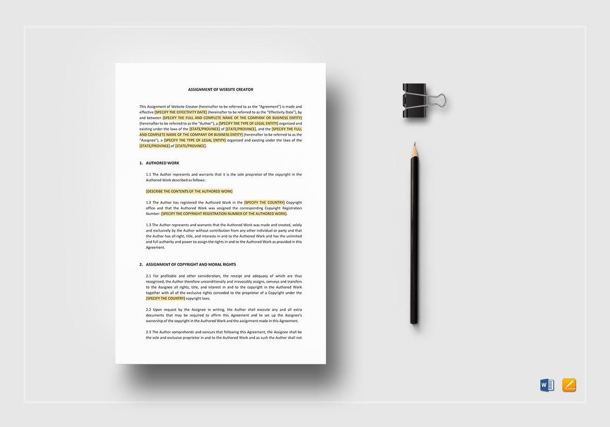 Assignment of Website Creator