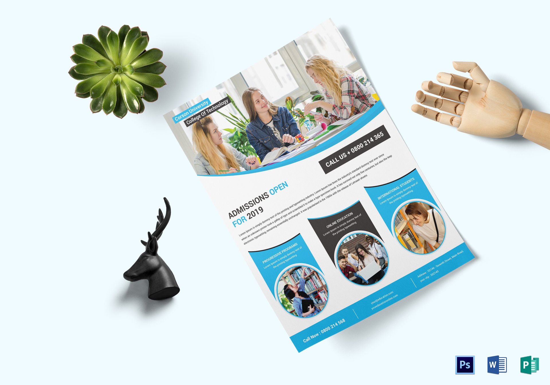 Education Flyer Design Template In Word Psd Publisher