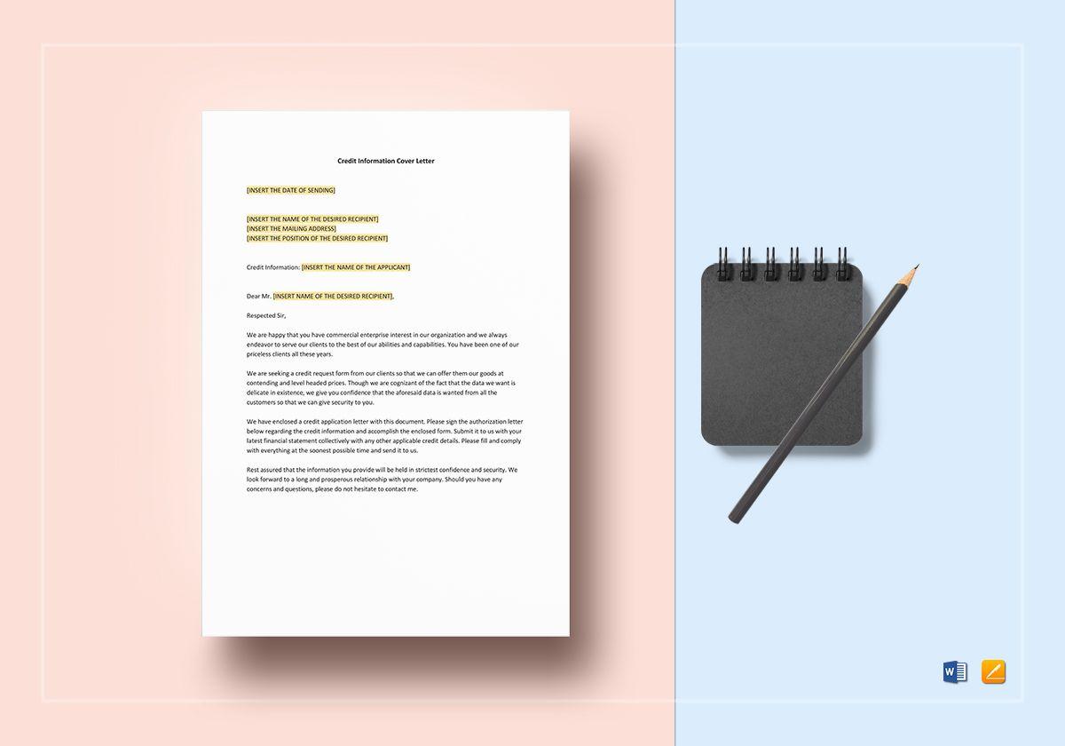 Credit Information Cover Letter