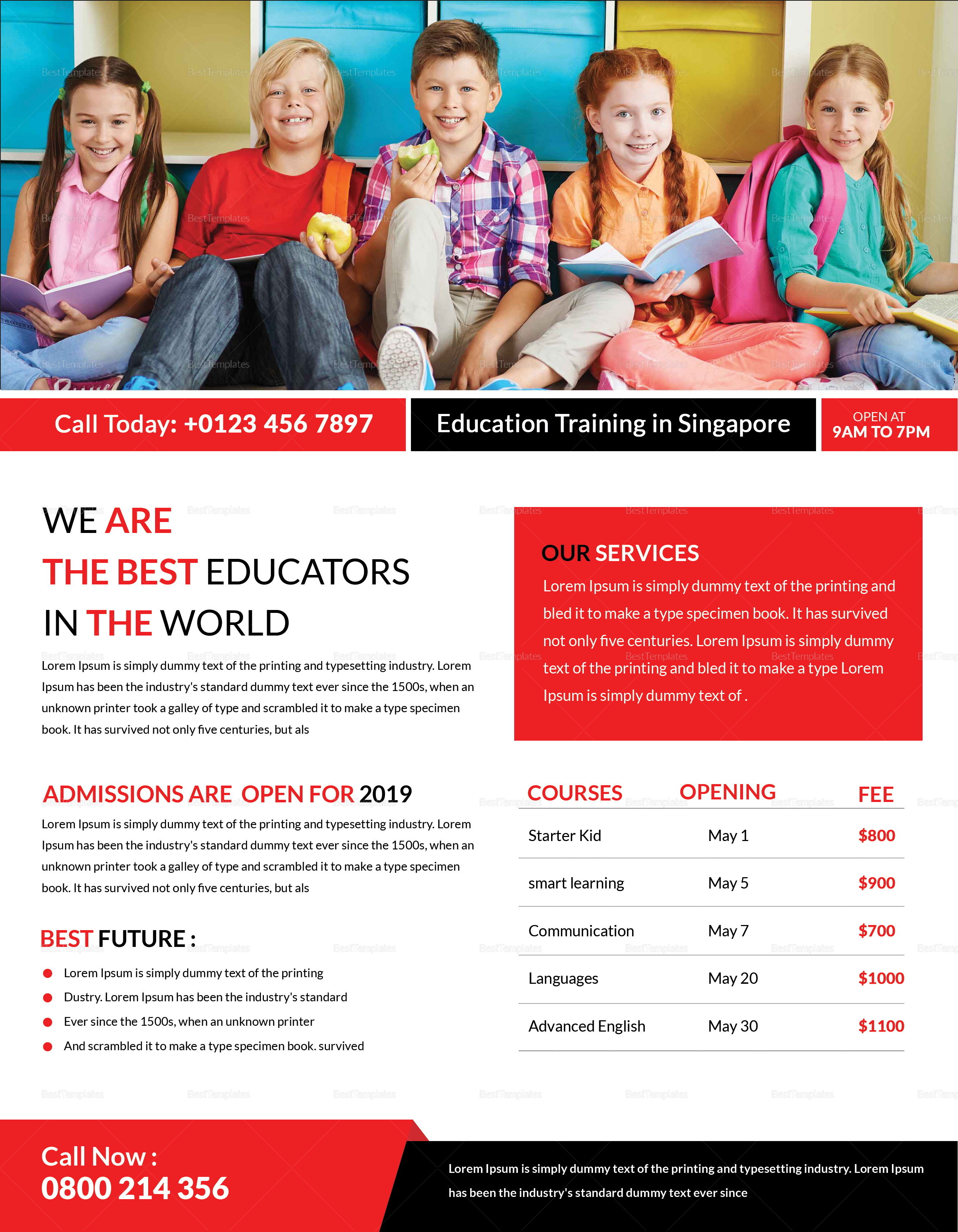 Education & Training Flyer Design Template