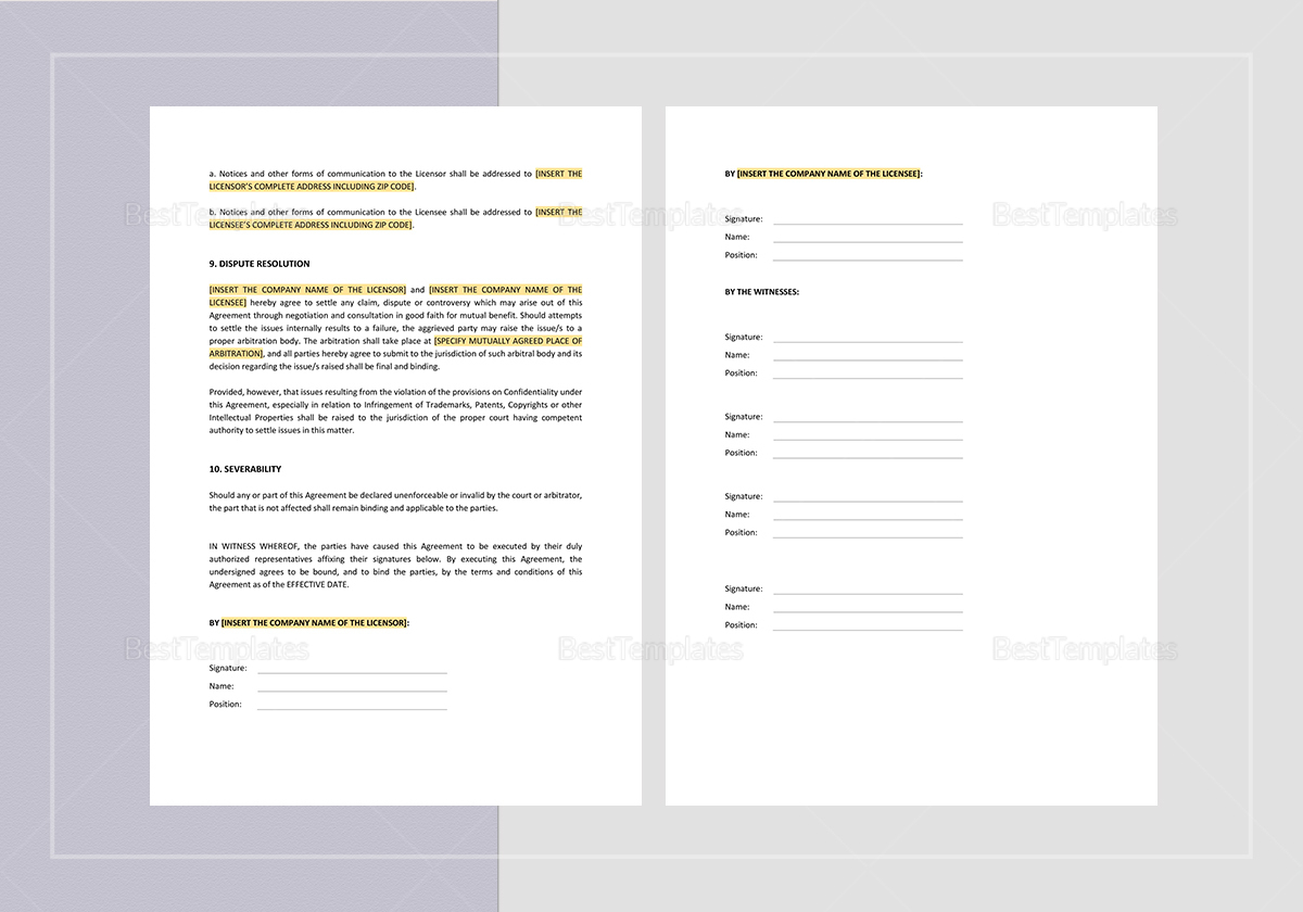 Simple Manufacturing & Distribution Agreement Template