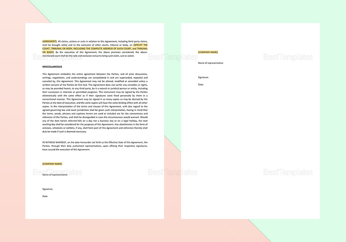 Simple Exclusive Importation and Sales Agreement Template