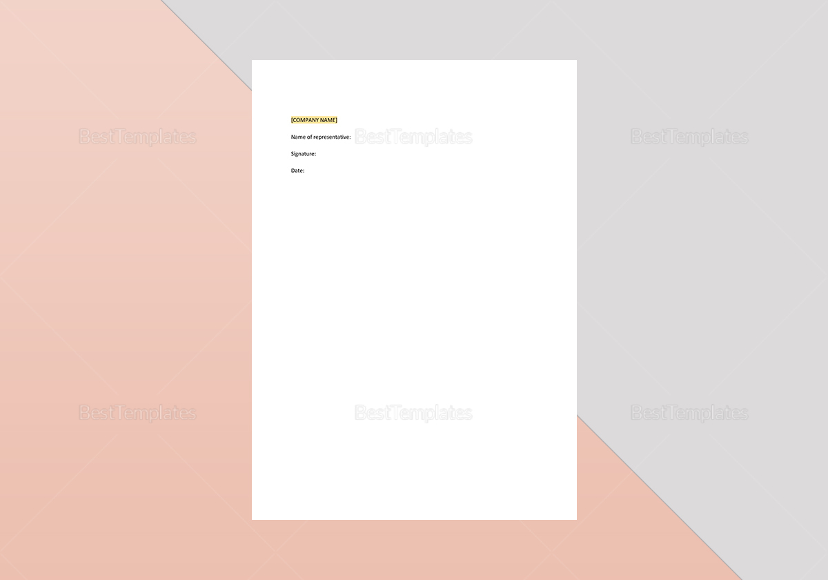 Contract for the Sale of Goods Template to Print