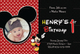 Mickey Mouse Birthday Invitation Card Design Template