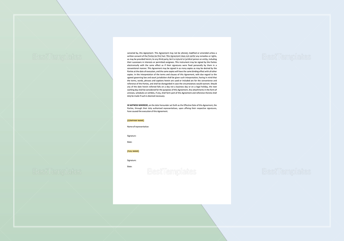 Simple Agreement for Chairman of Board of Directors Template