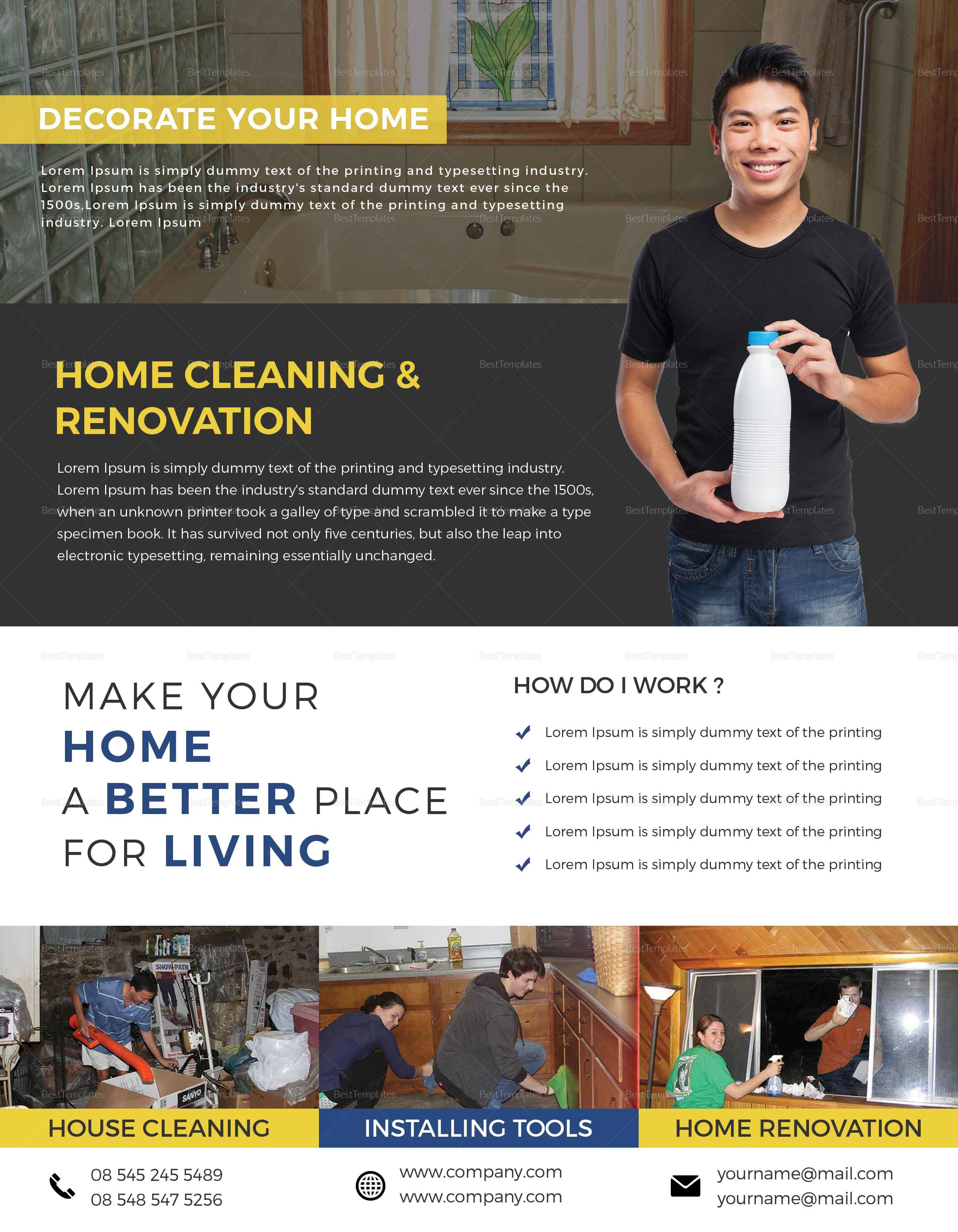 Professional House Cleaning Flyer Template