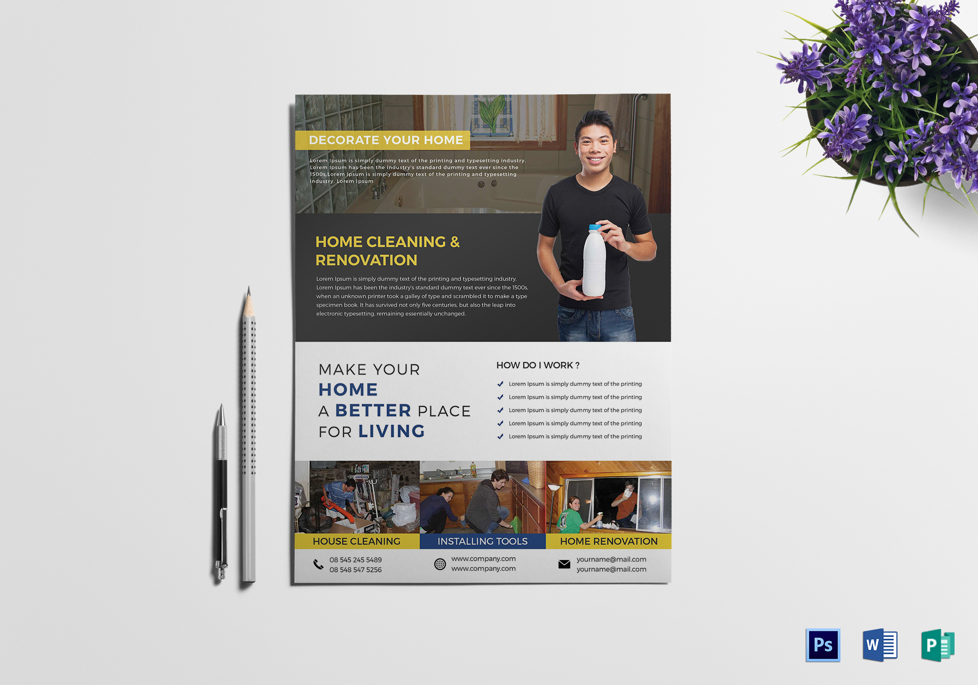 Professional House Cleaning Flyer Template ...