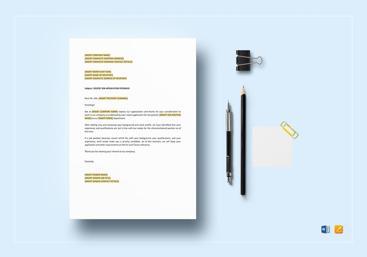 Negative Response Qualifications Template