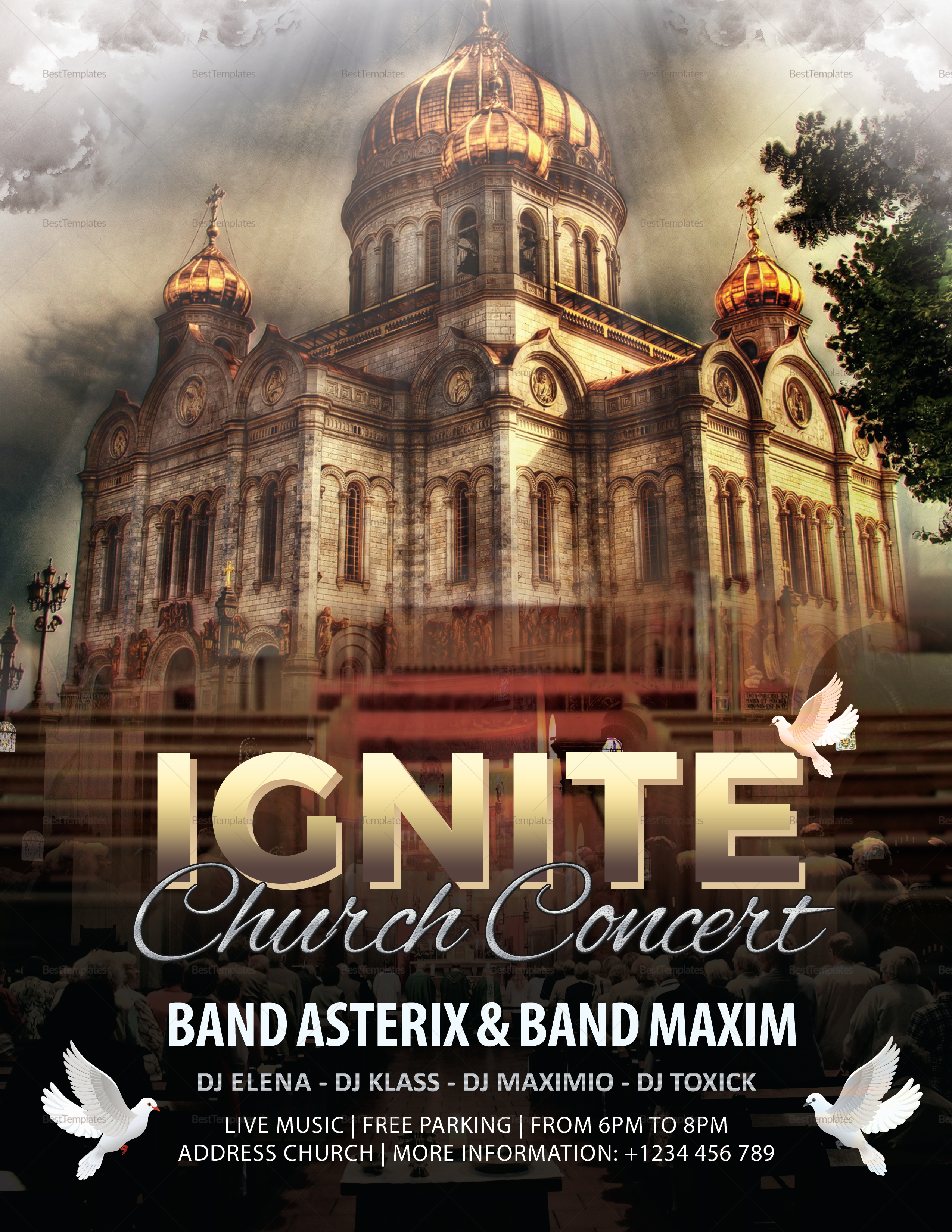 Ignite Church Concert Flyer Template