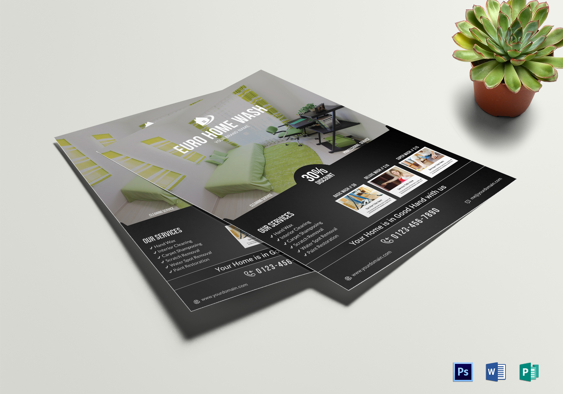 Cleaning Service Flyer Design Template In Word Psd Publisher