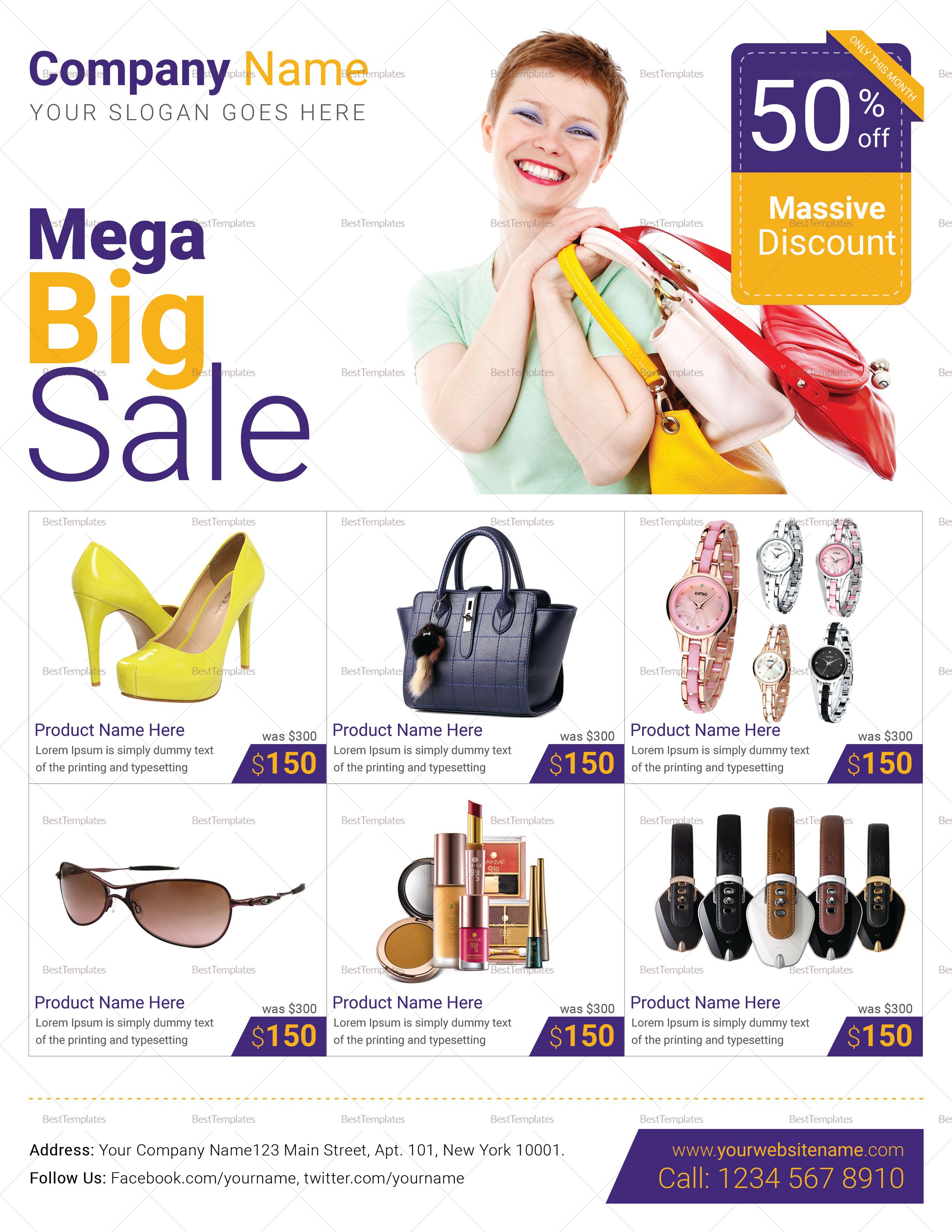 Mega Big Sale Flyer Template