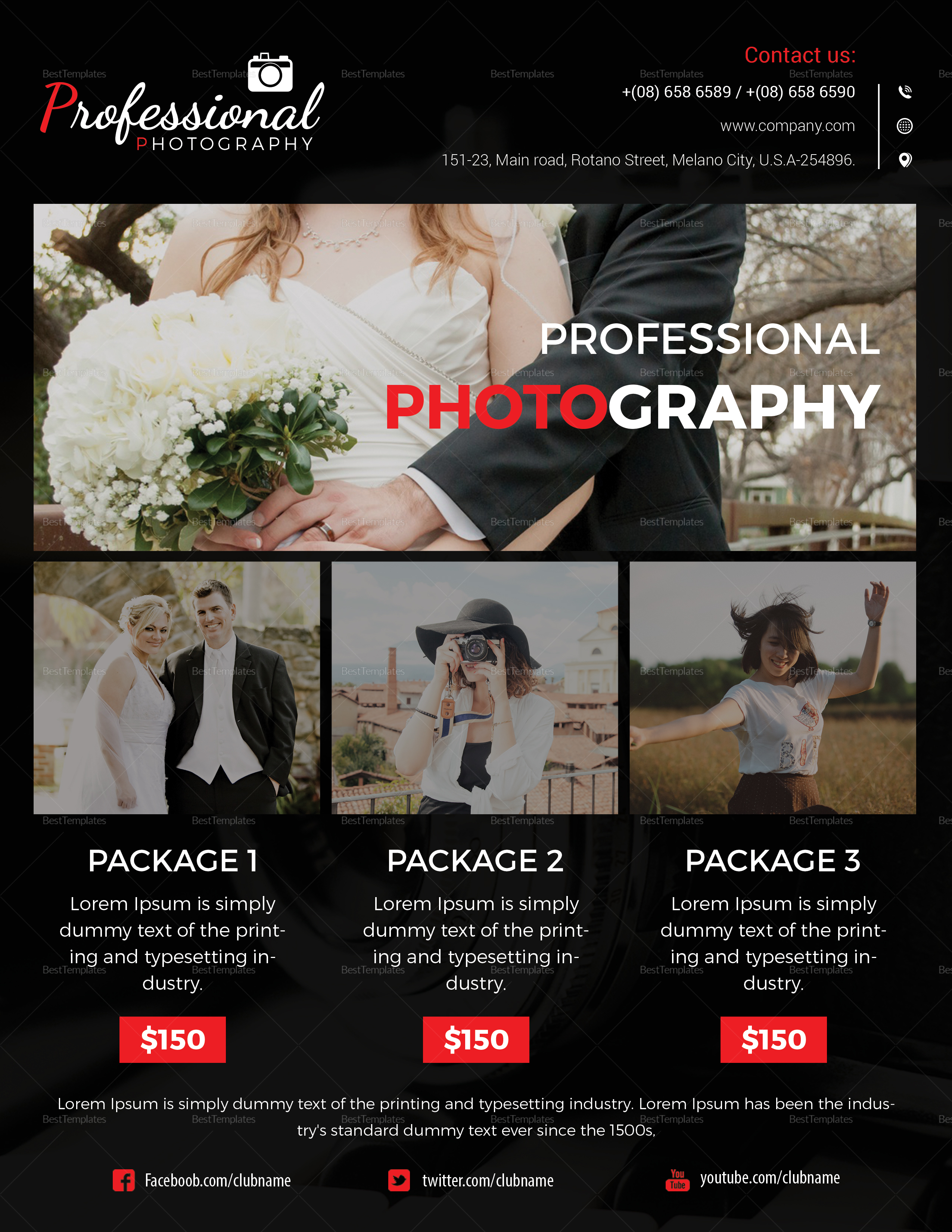 Professional Agency Photography Flyer Template