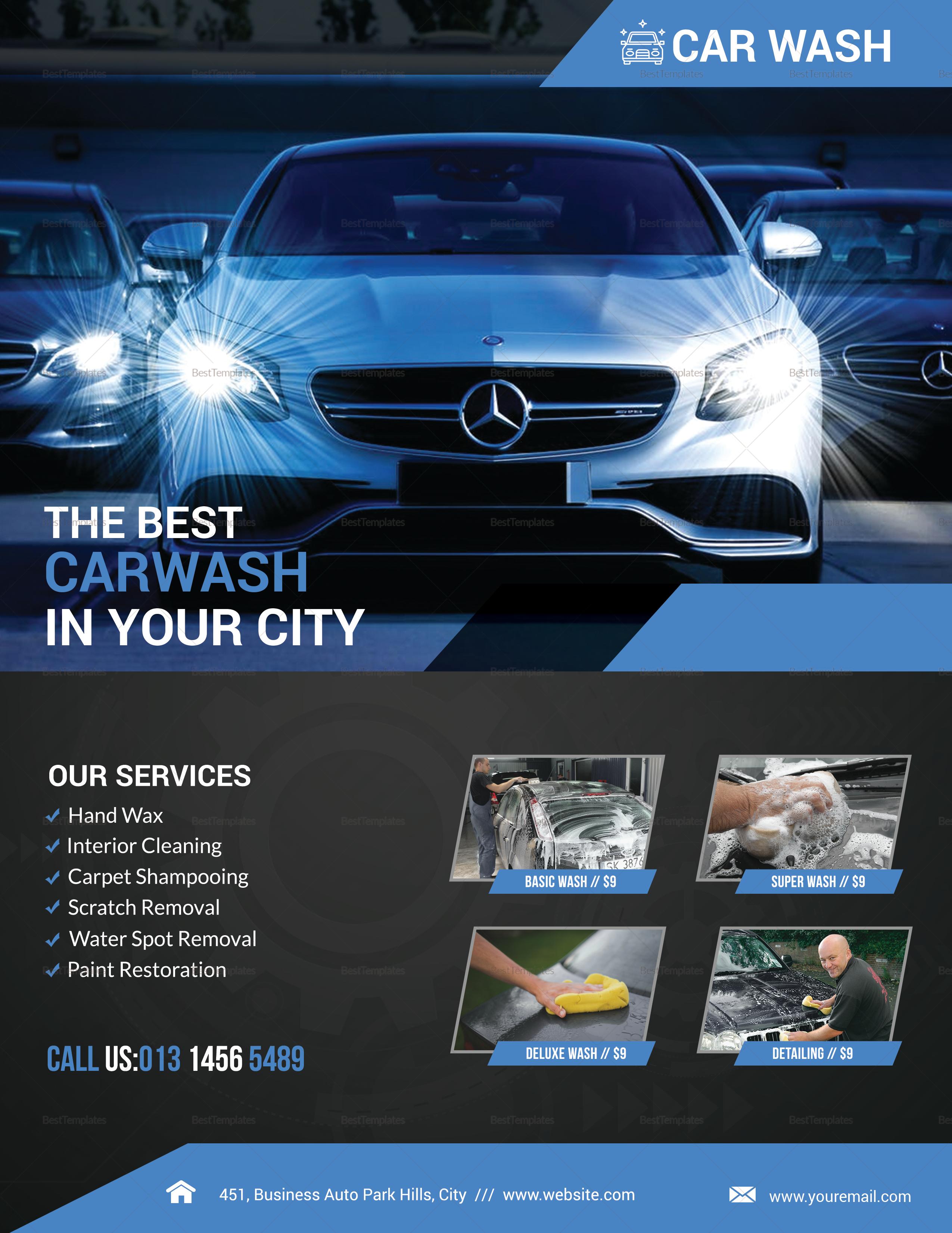 car wash service flyer car wash service flyer template