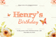 Watercolor Birthday Party Invitation Card Design Template