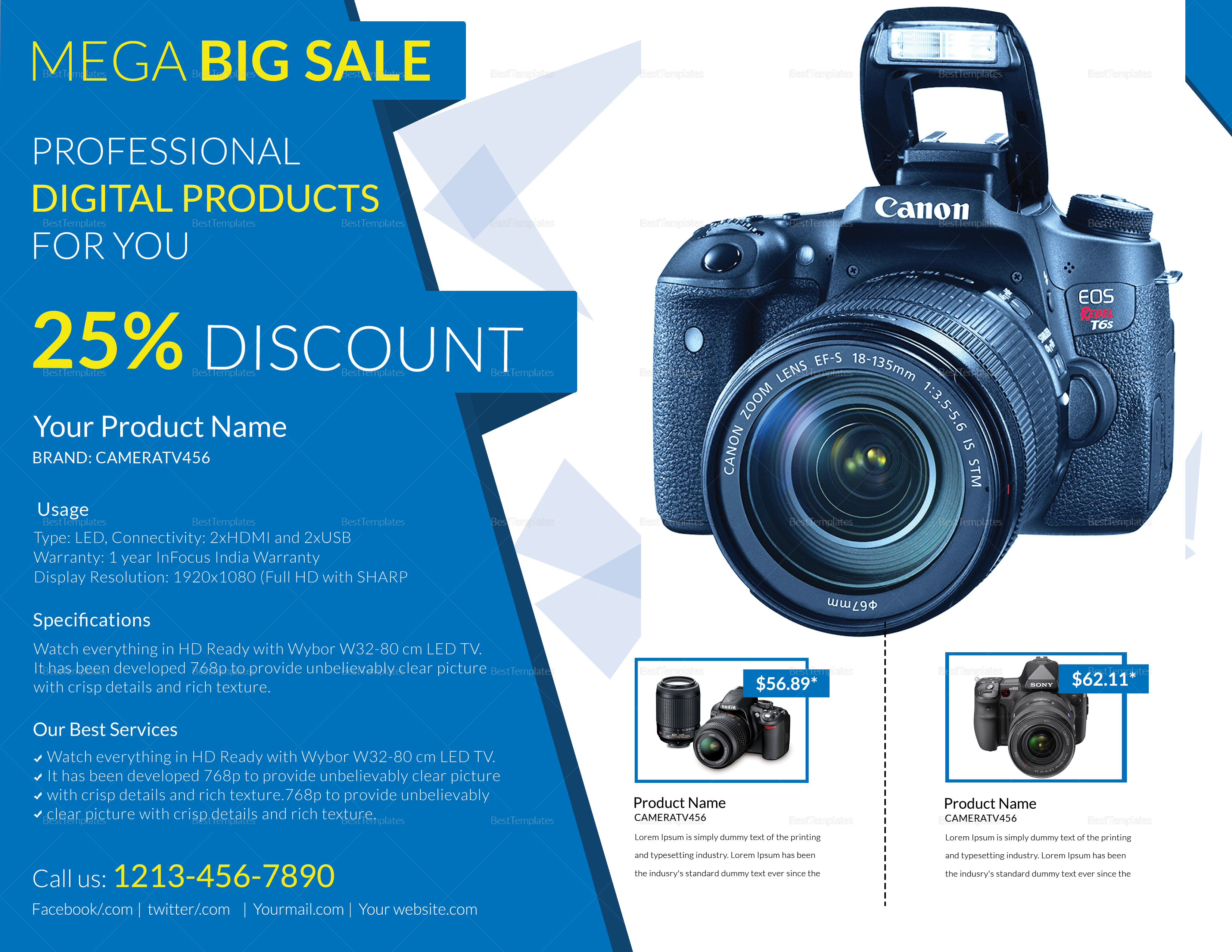 Elegant Electronic Products Flyer Design Template