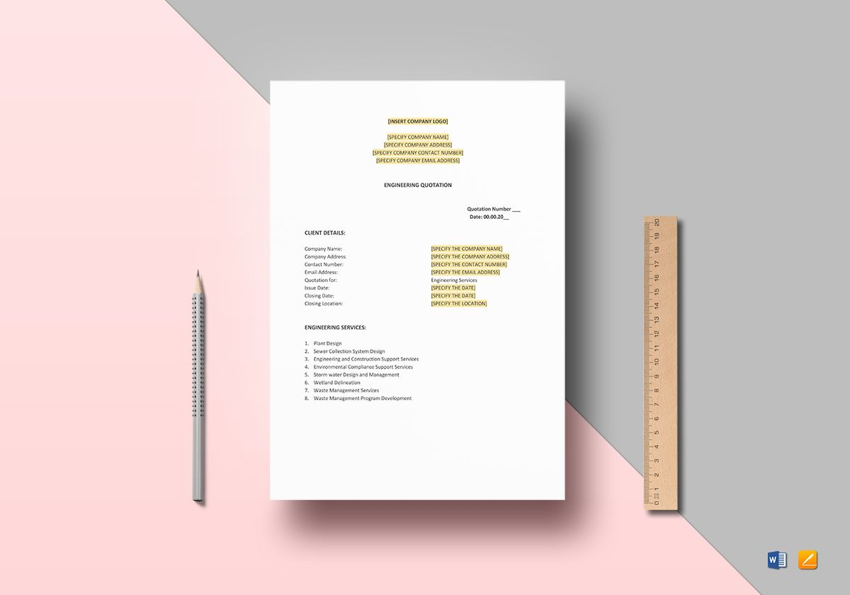 Engineering Quotation Template