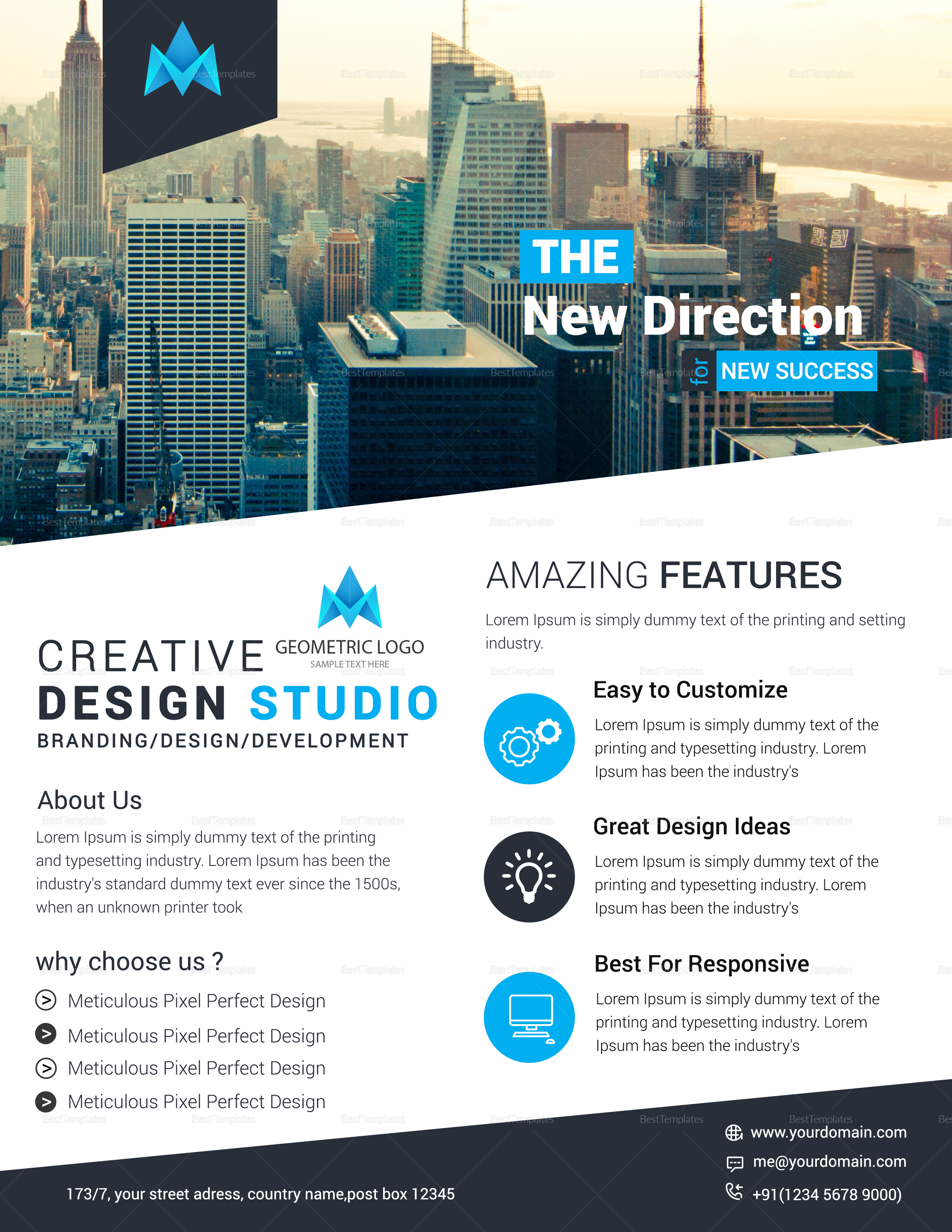 Creative Business Conference Flyer Template