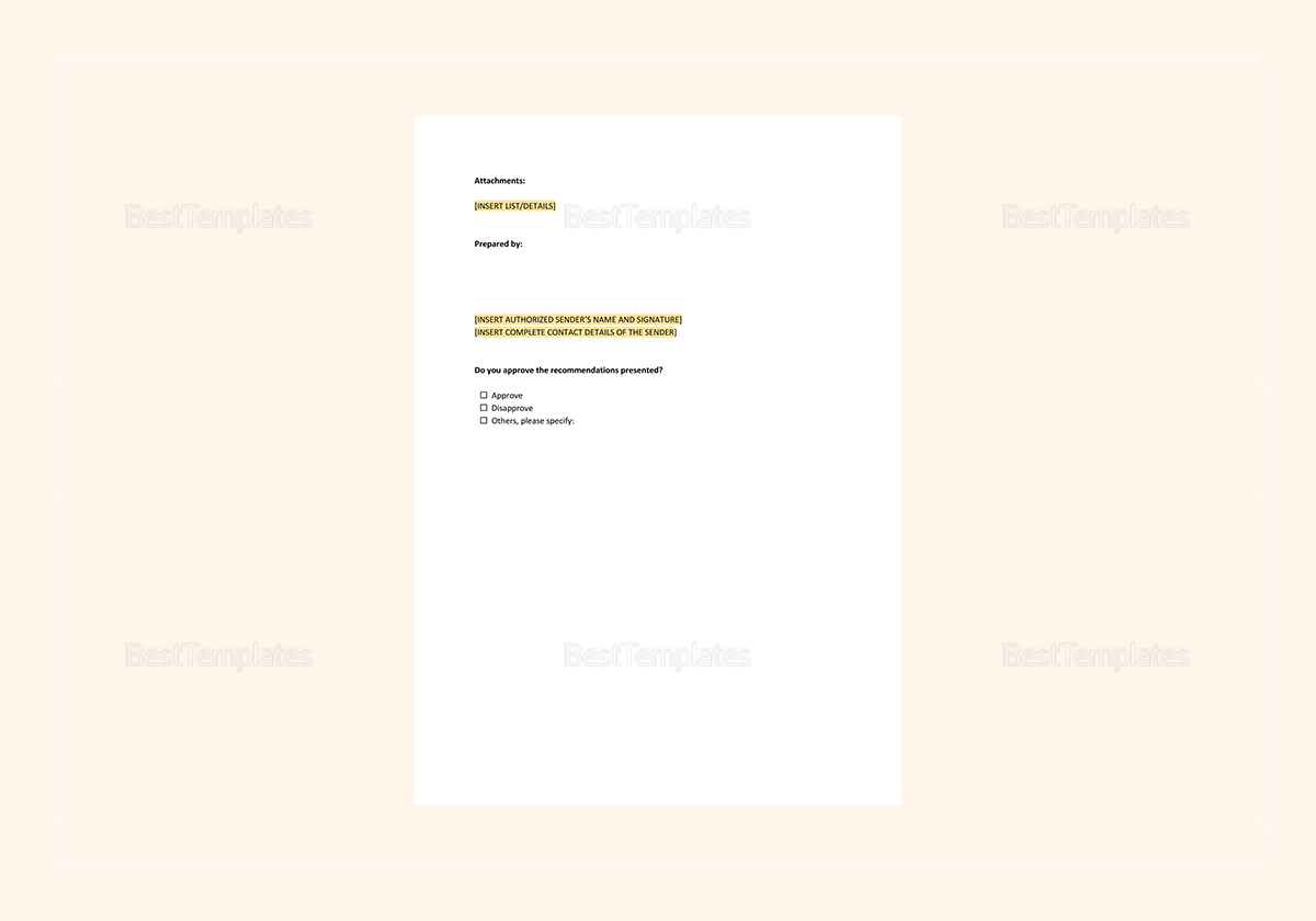 Action Memo Template to Edit