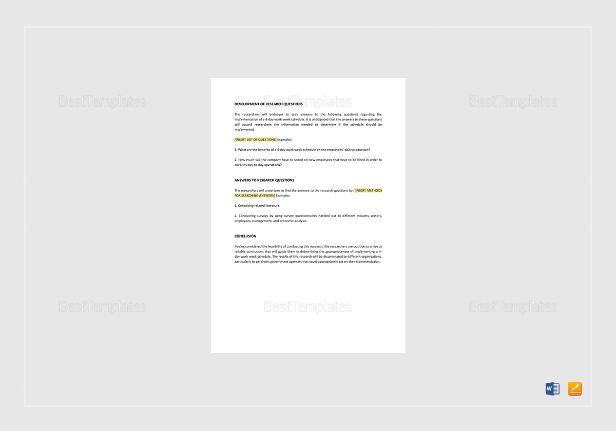 Simple Research Memo Template
