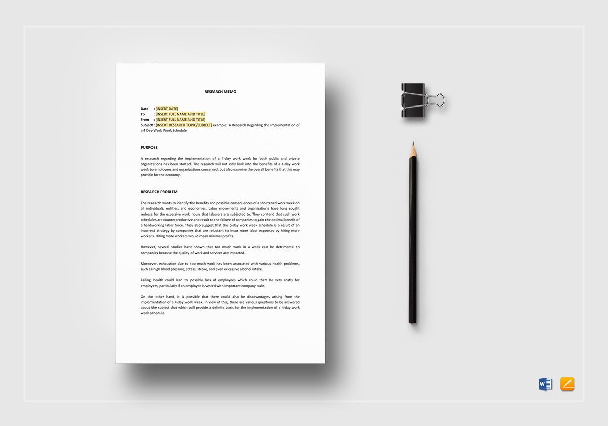 Research Memo Template