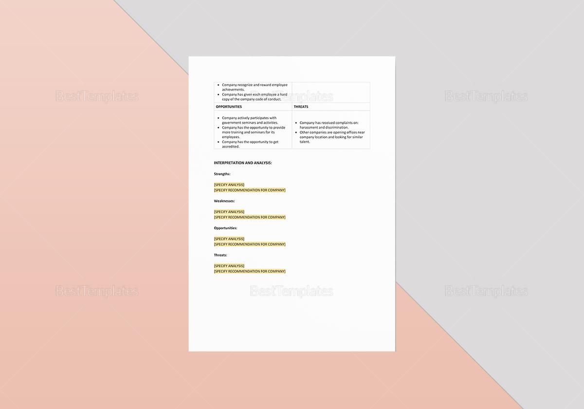 Human Resources SWOT Analysis