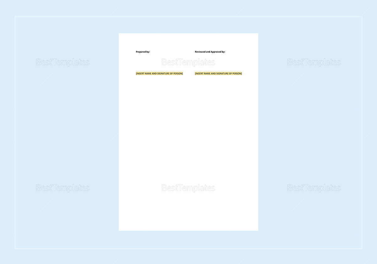 Sample Daily Work Report Template