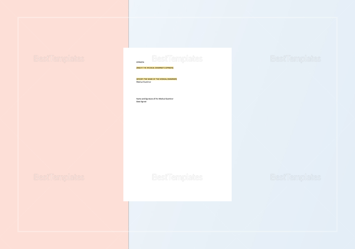 Sample Autopsy Report Template