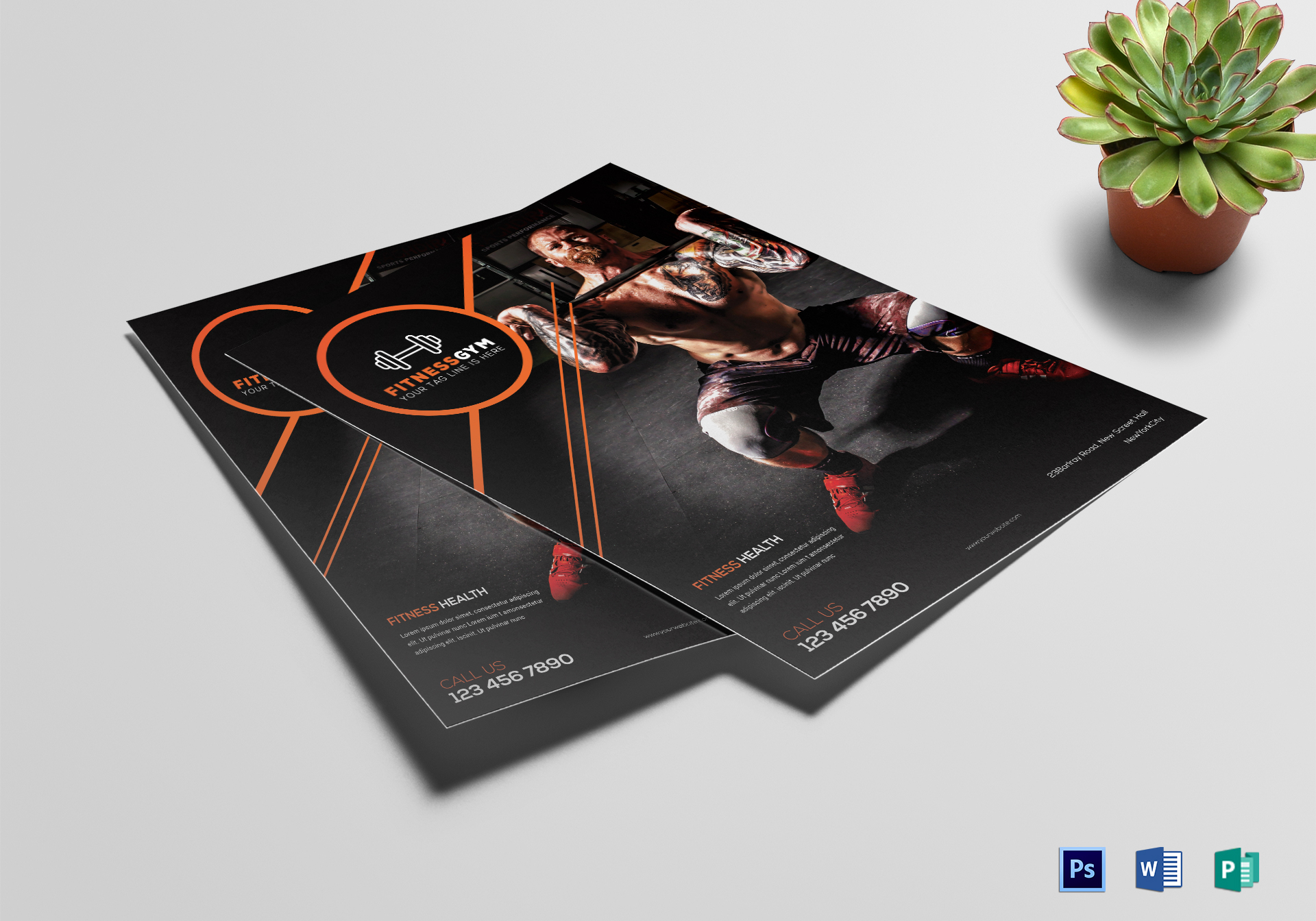 Editable Fitness Gym Flyer Template