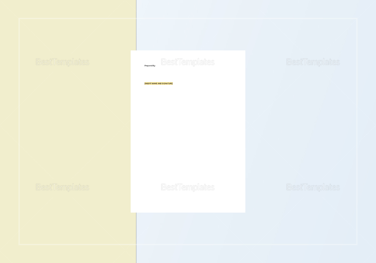 Sample Daily Production Report Template