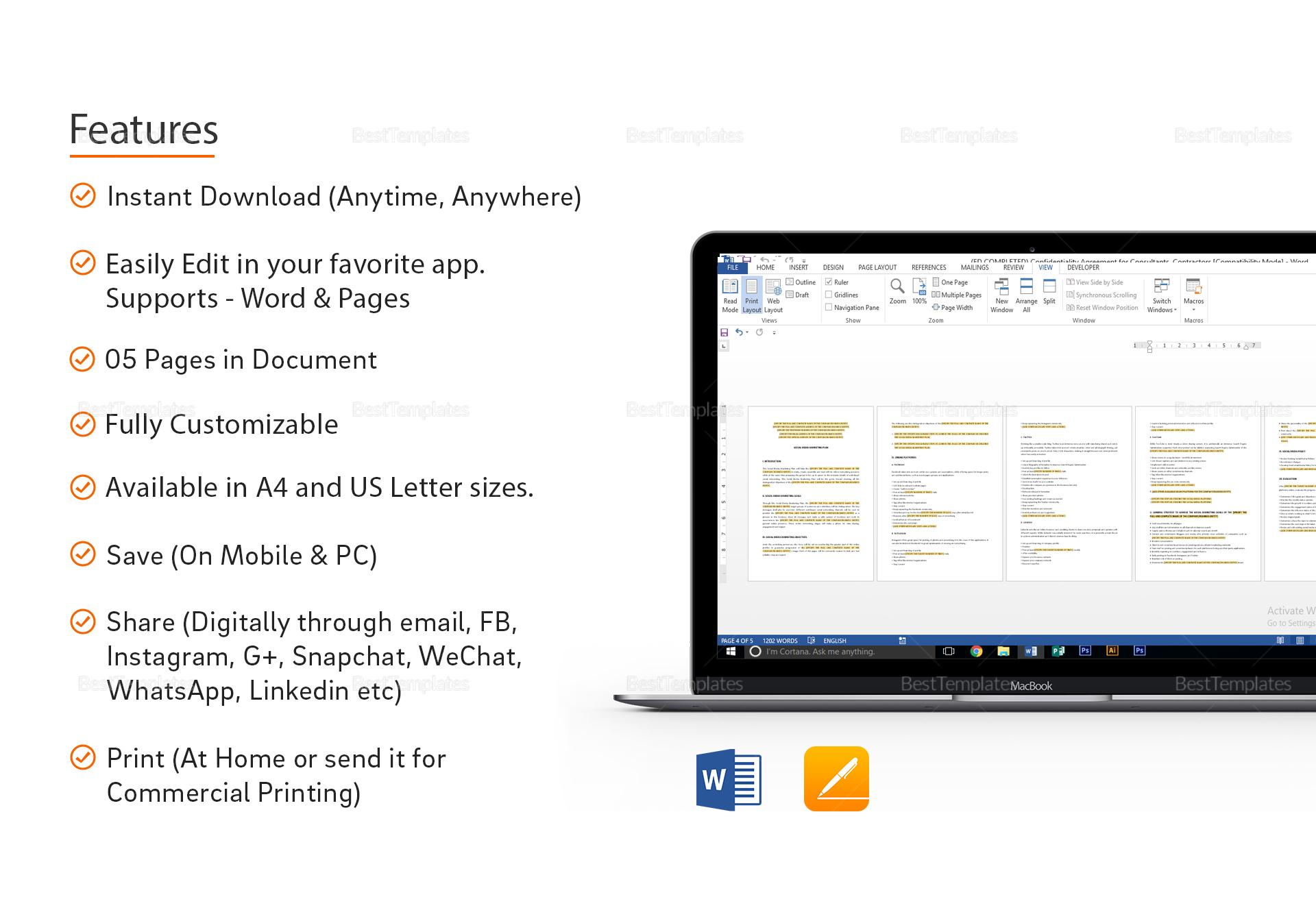 Simple Social Media Marketing Plan Template
