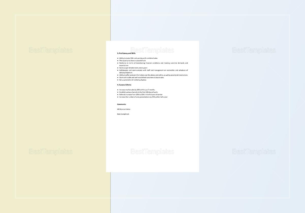 Sample Job Analysis Report Template