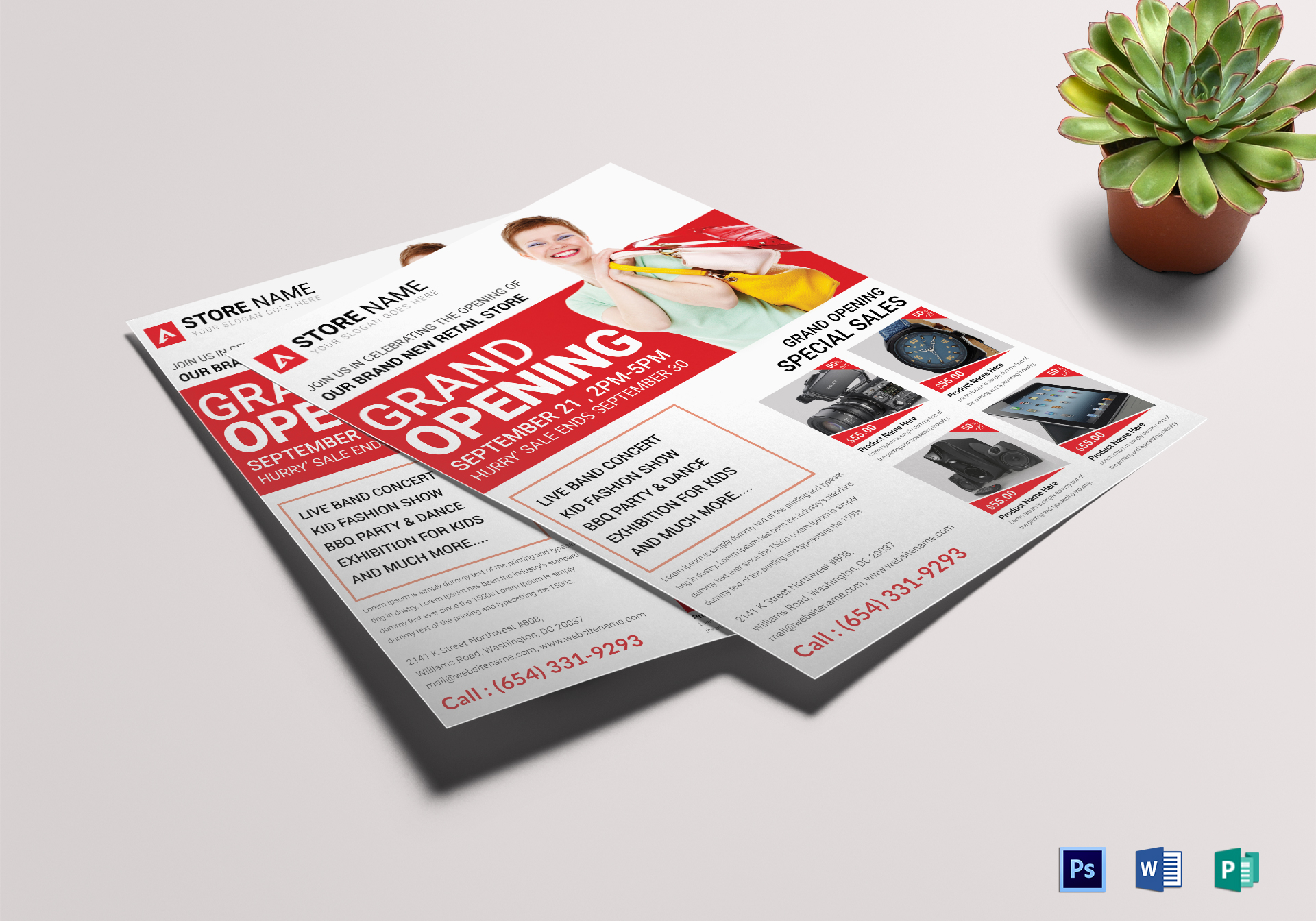 Store Grand Opening Flyer Design Template In Word Psd Publisher