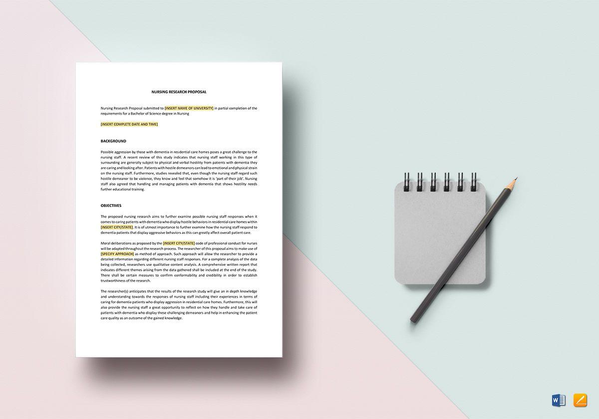 Nursing Research Proposal Template