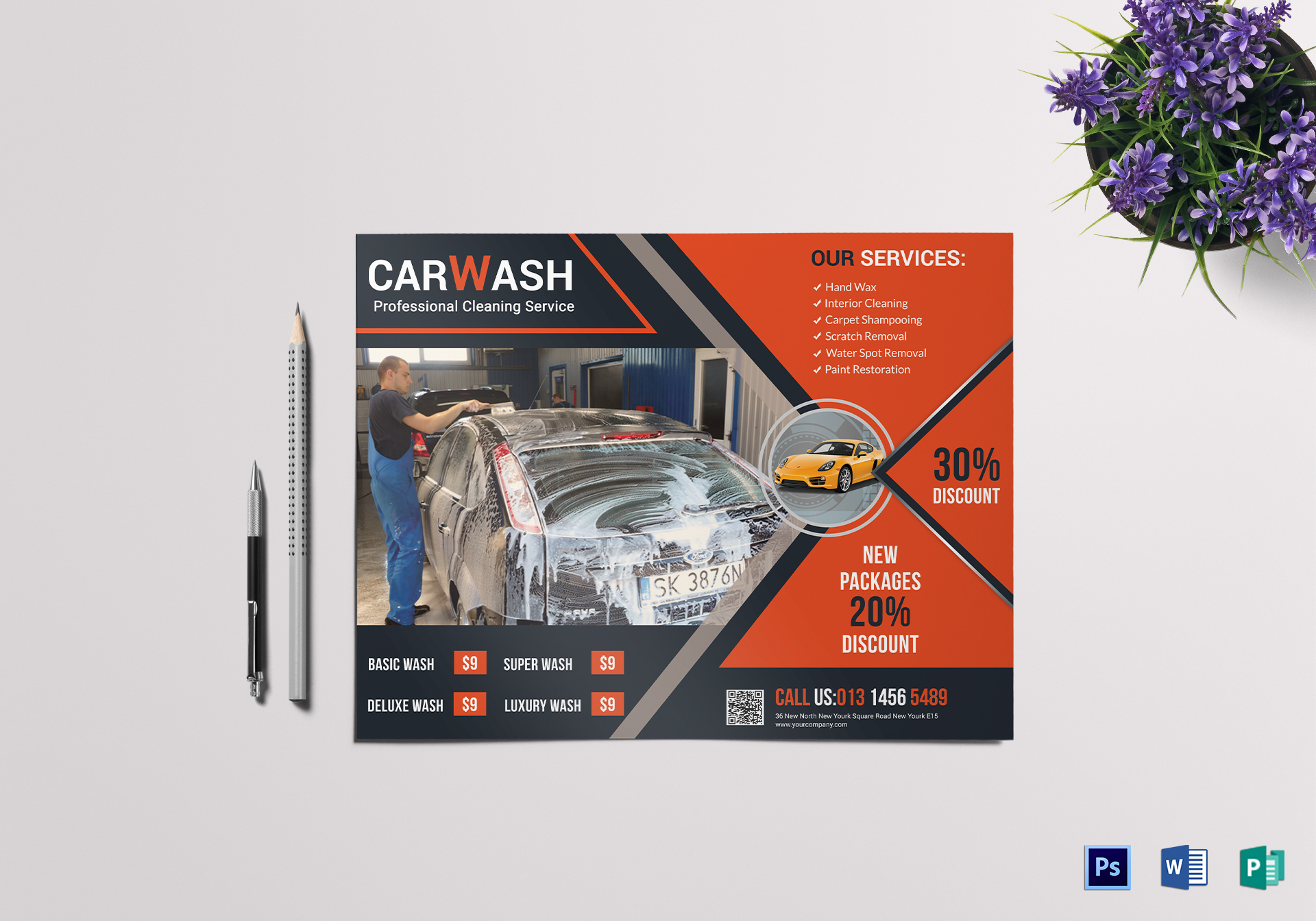Car Wash Discount Flyer