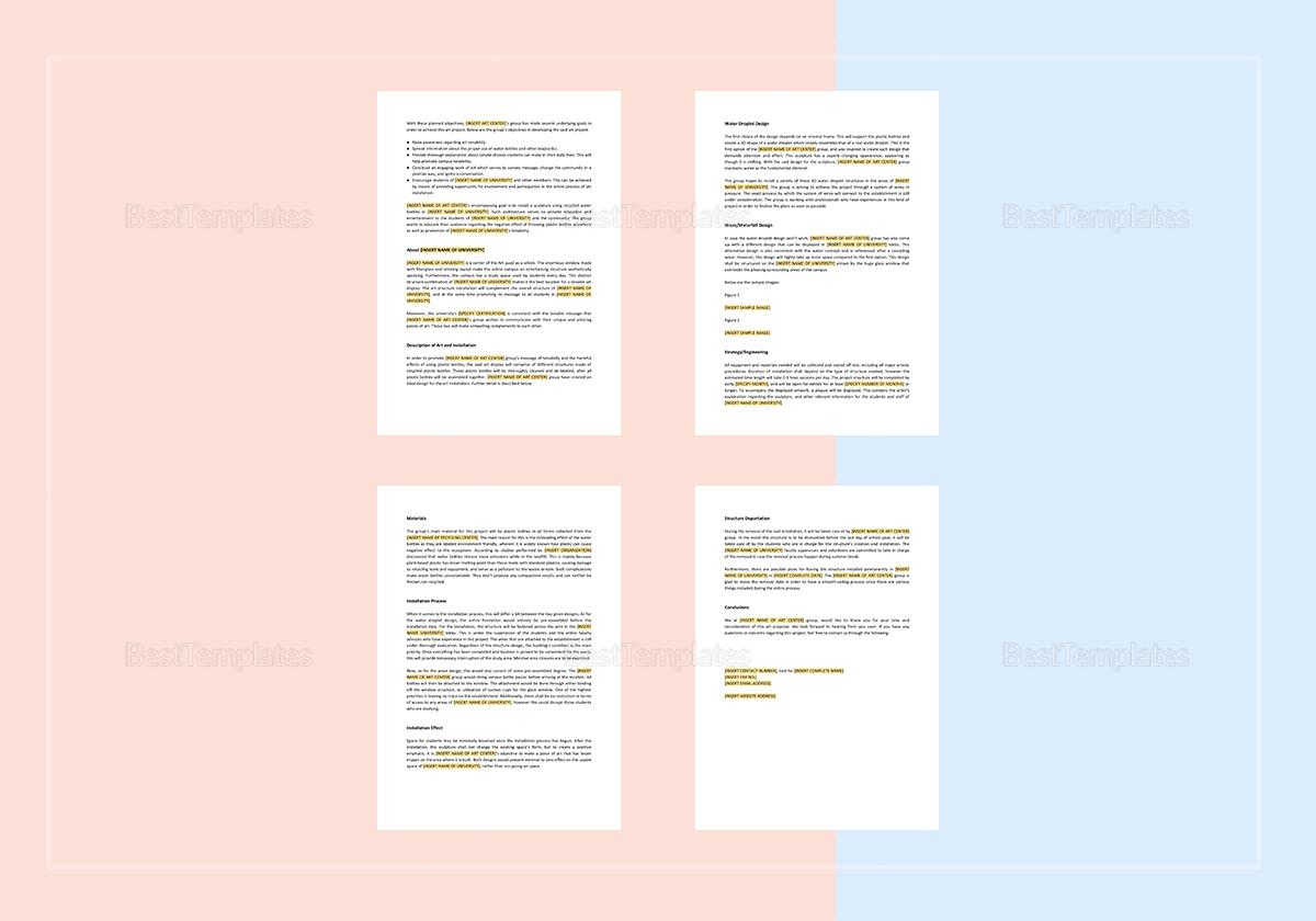 Editable Art Proposal Template