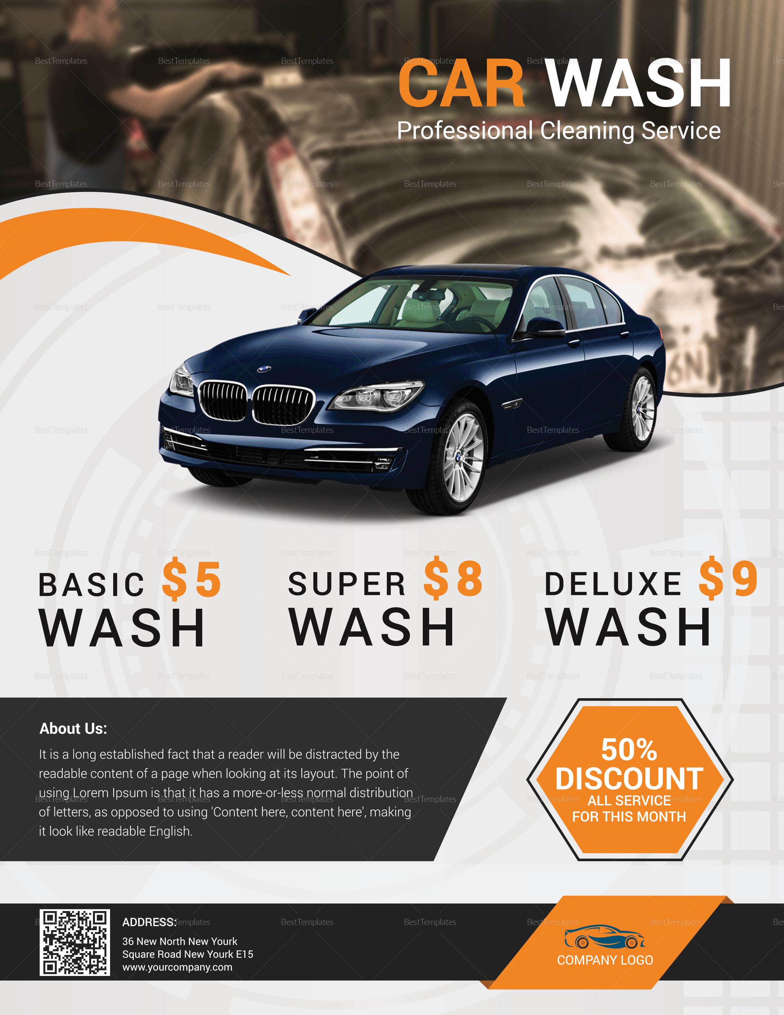 Special Car Wash Flyer Design Template In Word Psd Publisher