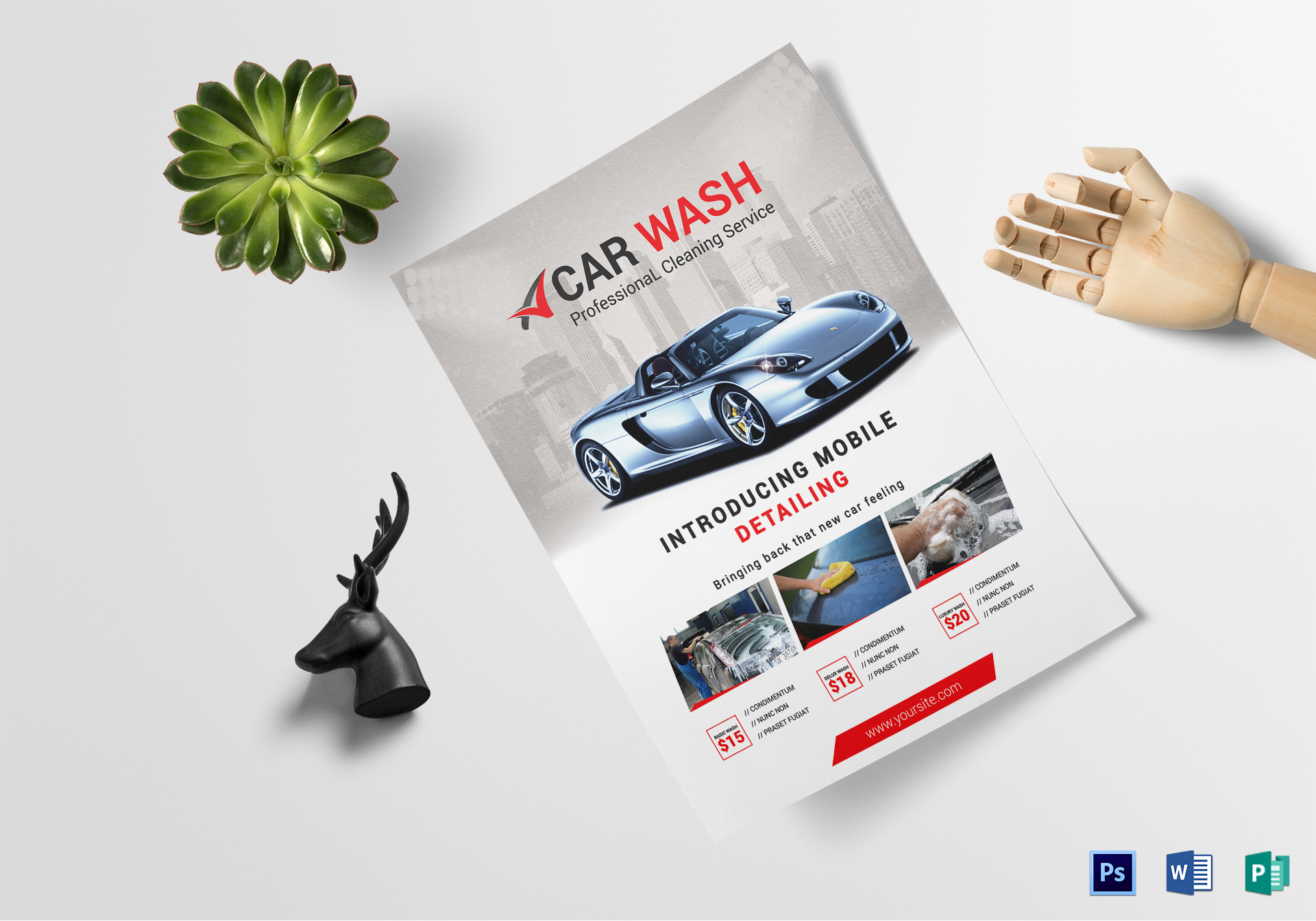Car Wash Business Flyer