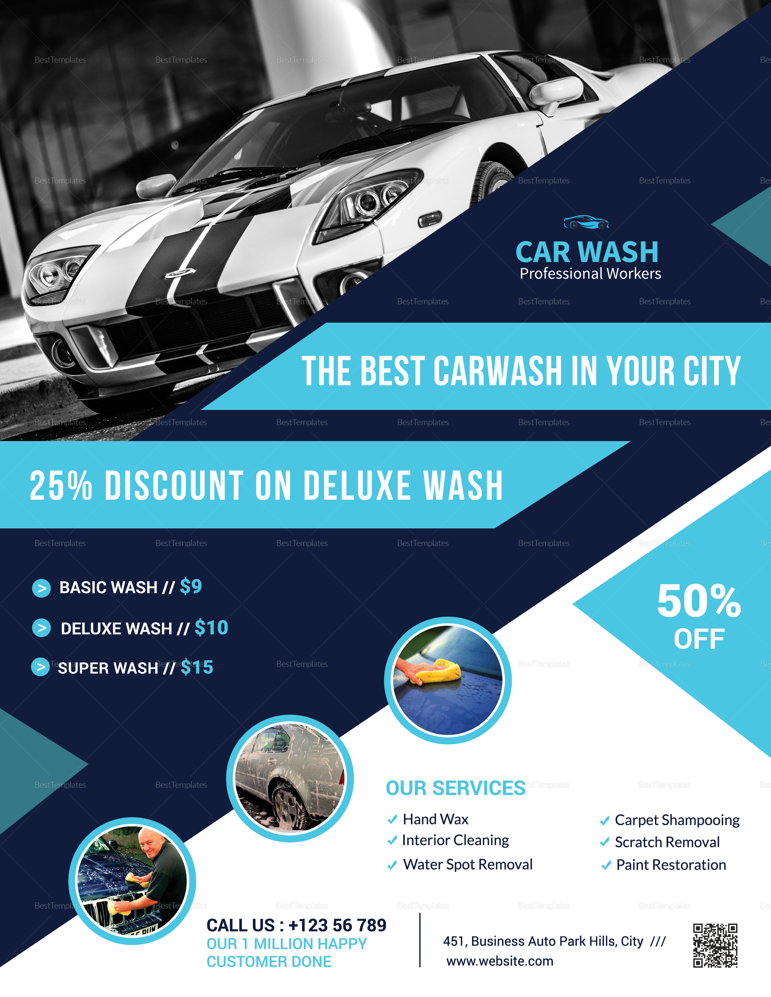 Deluxe Car Wash Flyer Design Template In Word Psd Publisher