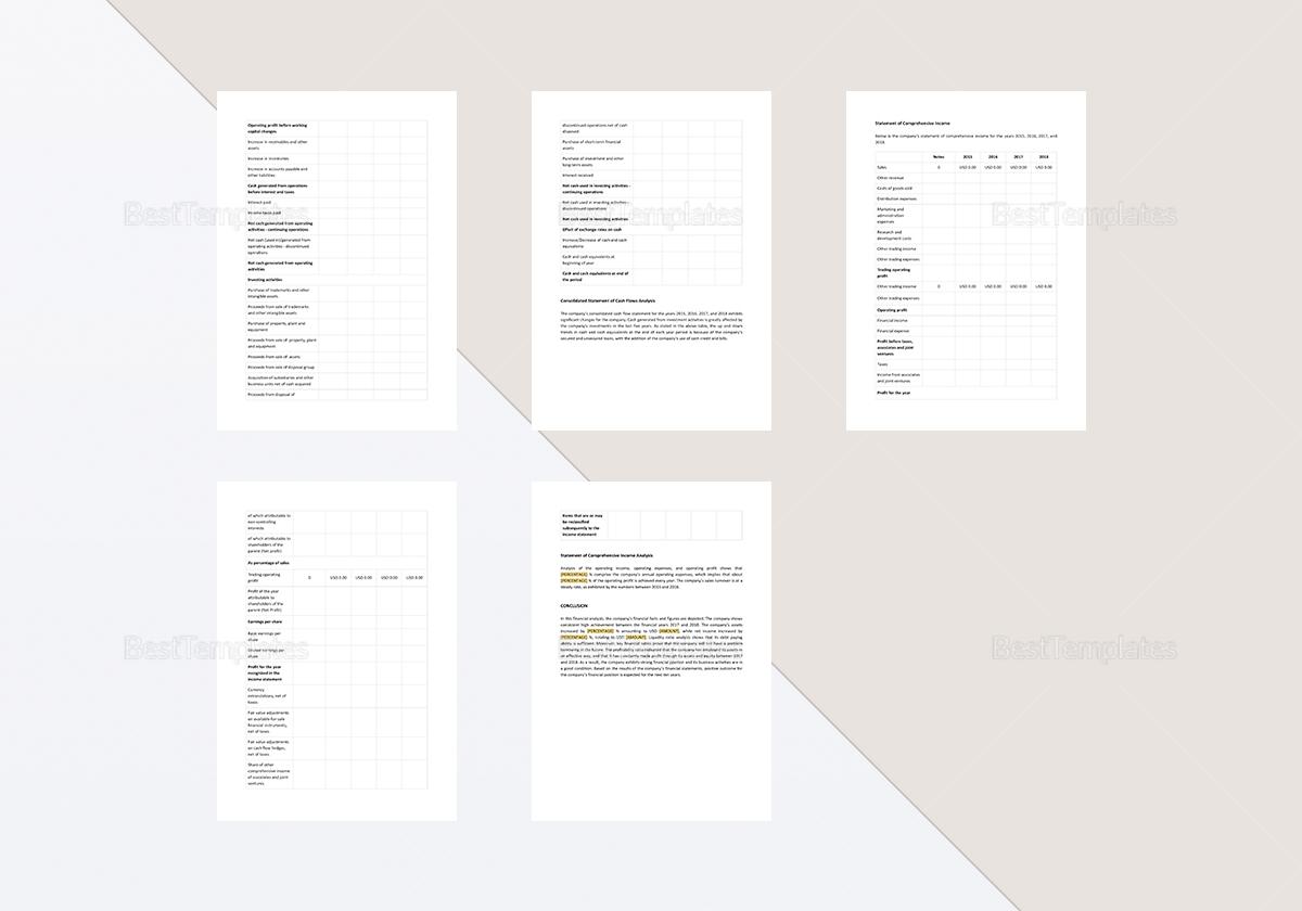 Financial Statement Analysis Sample