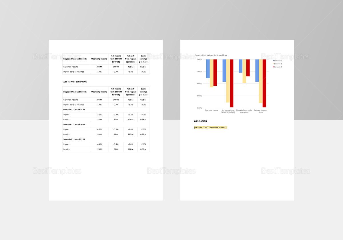 Financial Impact Analysis Template
