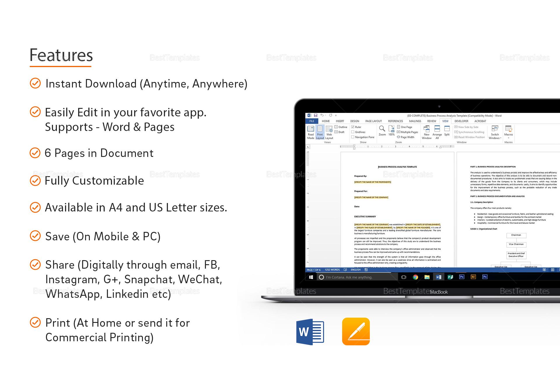 Sample Business Process Analysis Template