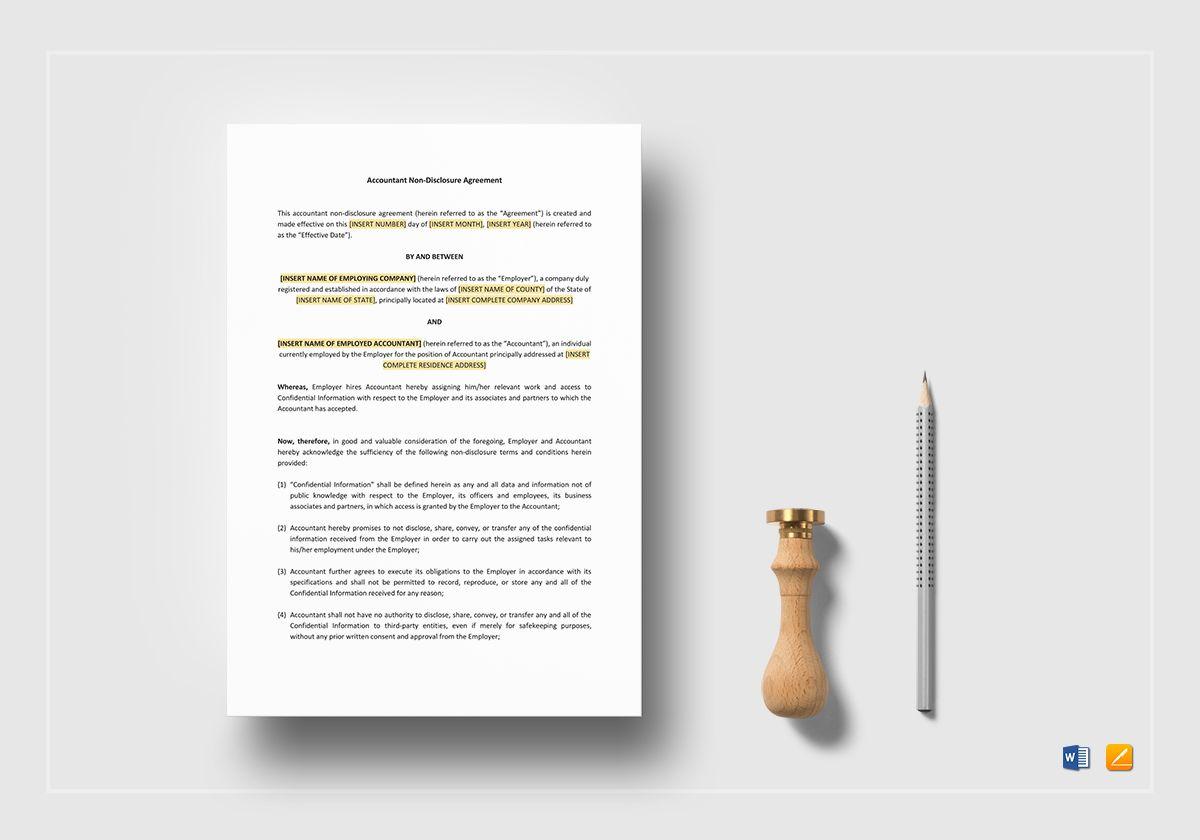Accountant Non-Disclosure Agreement
