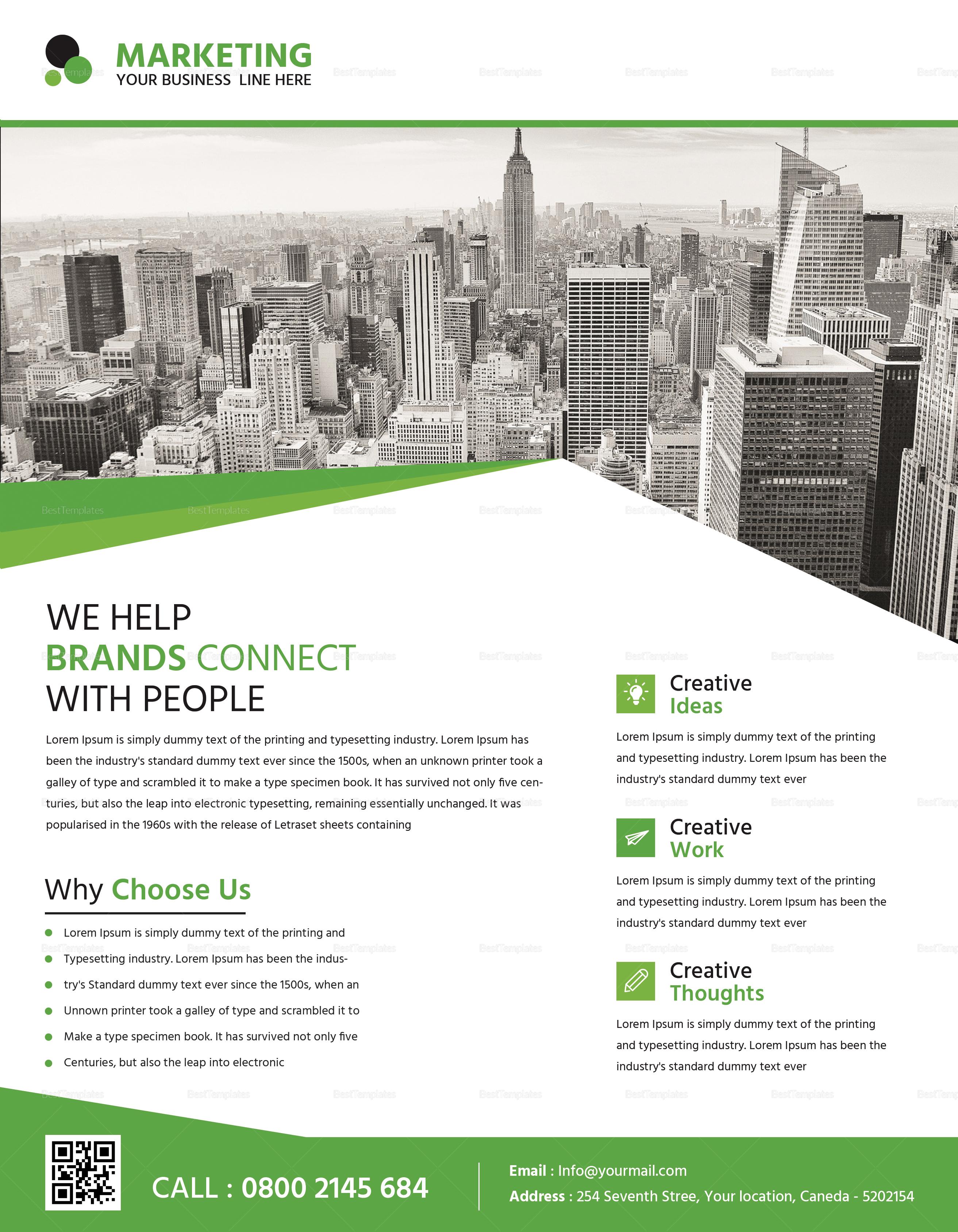 Marketing Business Flyer Design Template