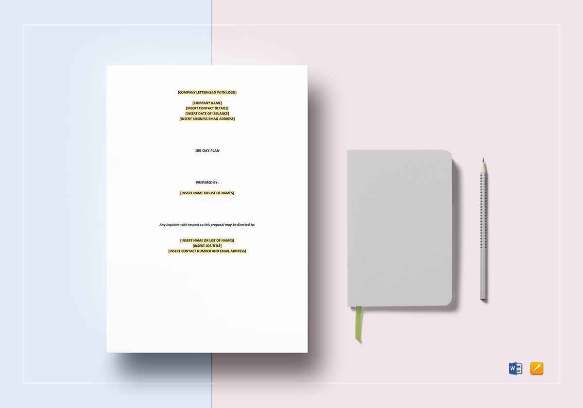 100-Day Plan Template