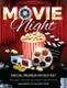 Movie Night Flyer Design Template