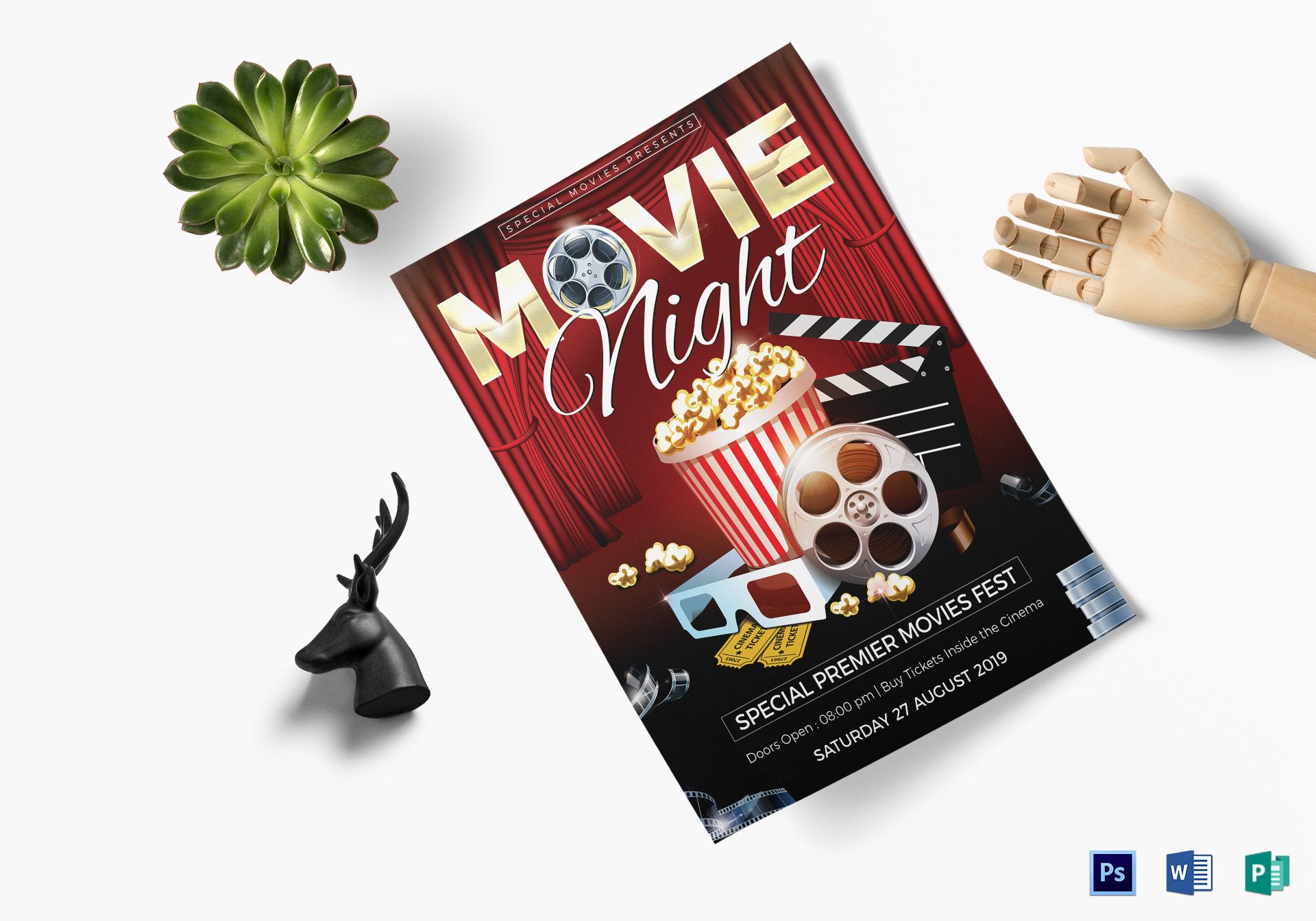 Movie Night Flyer Template ...