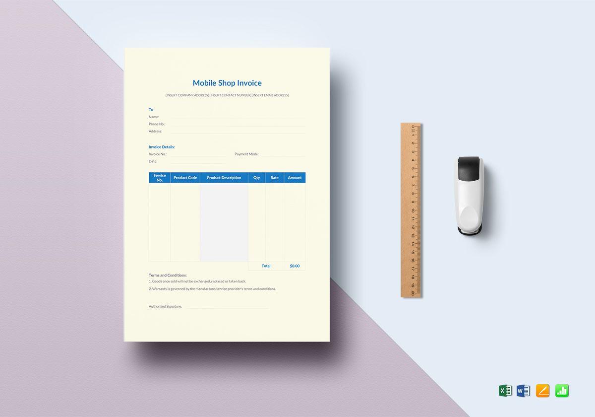 Mobile Shop Invoice
