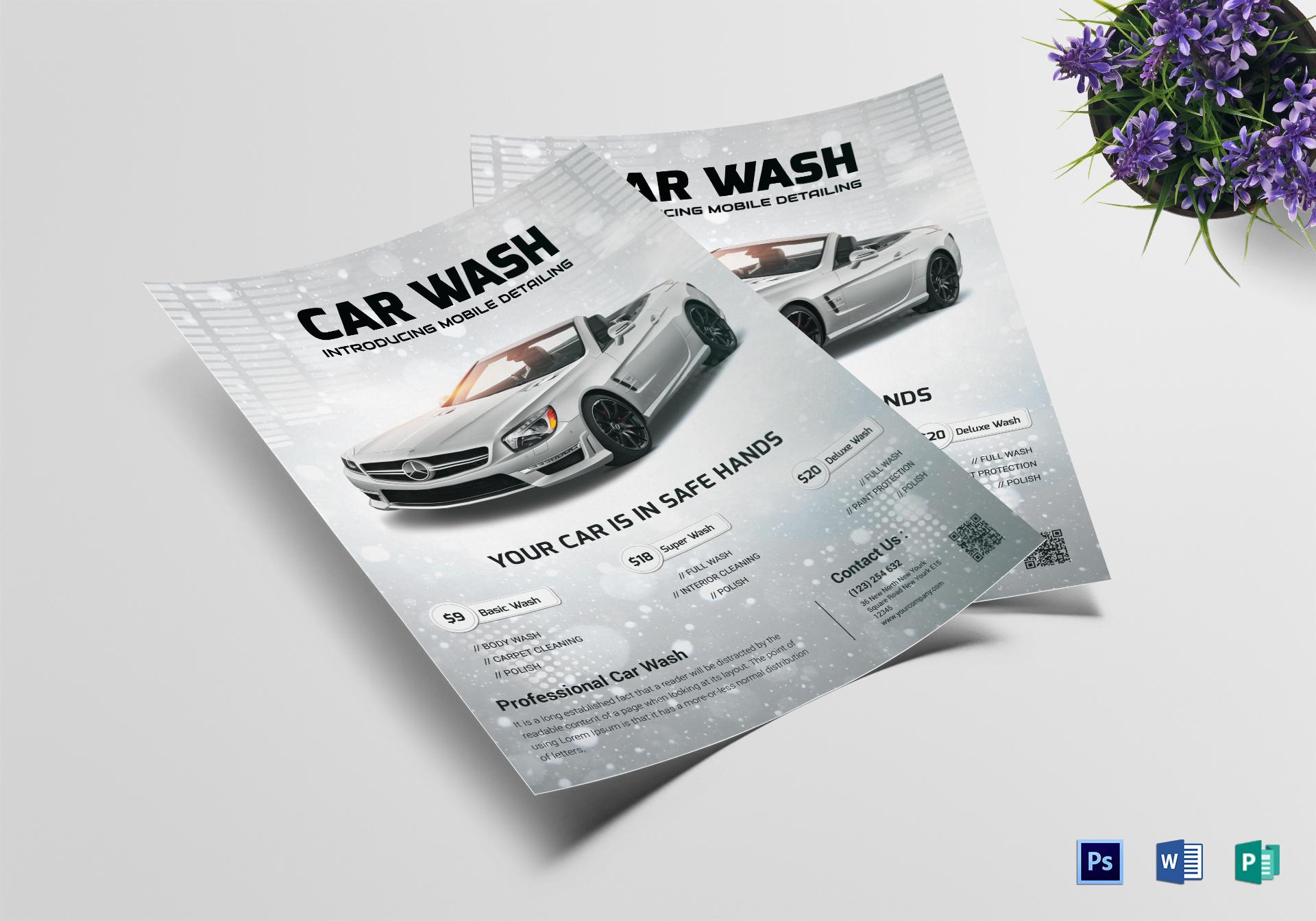 Basic Car Wash Flyer