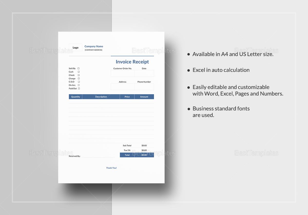 Simple Invoice Receipt Template